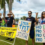 TMT Supporters Hold Sign-Waving Event in Hilo