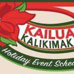 Holiday Activities in Historic Kailua Village