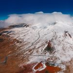 Aerial Views of Snow-Capped Maunakea: Photo Gallery