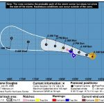 Hurricane Douglas Now About 390 Miles From Hilo