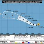 Tropical Storm Douglas Gains Strength As it Moves Toward Hilo
