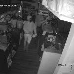 Surveillance Footage Captures Burglary at Coffee Shop
