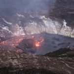 Lava Flowing Stronger from West Vents in Halemaʻumaʻu Crater