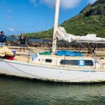 Sailboat Caught on Kaua'i Reef Removed, Impounded