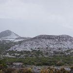 Isolated Thunderstorm Dumps Snow, Hail Over Maunakea's Mid-Level