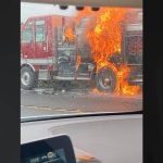 PTA Fire Truck Catches Fire on Saddle Road