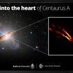 Hawaii Telescopes Help Pinpoint Dark Heart of Nearest Radio Galaxy