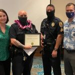 HPD Officer Honored for Diffusing Situation Involving Weapons